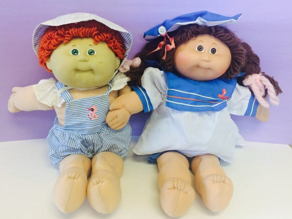 vintage cabbage patch clothing doll clothes blue