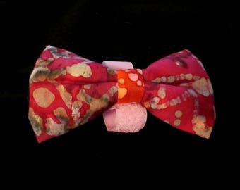 Strawberry Batik Doggy Bowtie