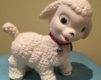 Vintage Lamb Squeak toy