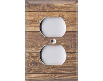 Country Rustic - Dark Wood Outlet Cover