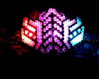 3 LED Reptile Kandi Mask