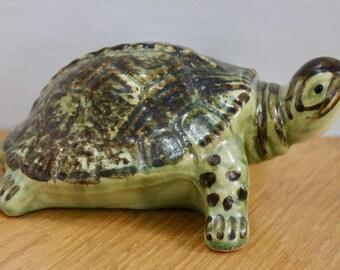 Vintage Brush McCoy Pottery Turtle Figurine