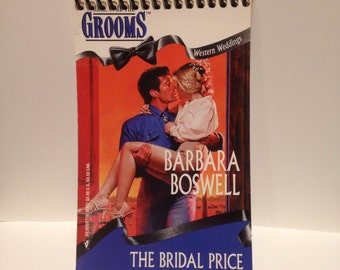Recycled 90s Romance Novel Blank Spiral Notebook The Bridal Price