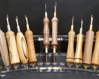 Handturned seam rippers and stilettos