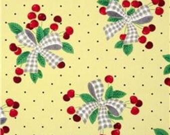 Michael Miller- Cherries Yellow - Designer Fabric