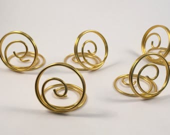 Wire Ring Style - Place Card Holder / Table Number Holder / Photo Holder