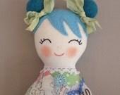 Vintage Patchwork Pal- Handmade Lavender Doll Pincushion