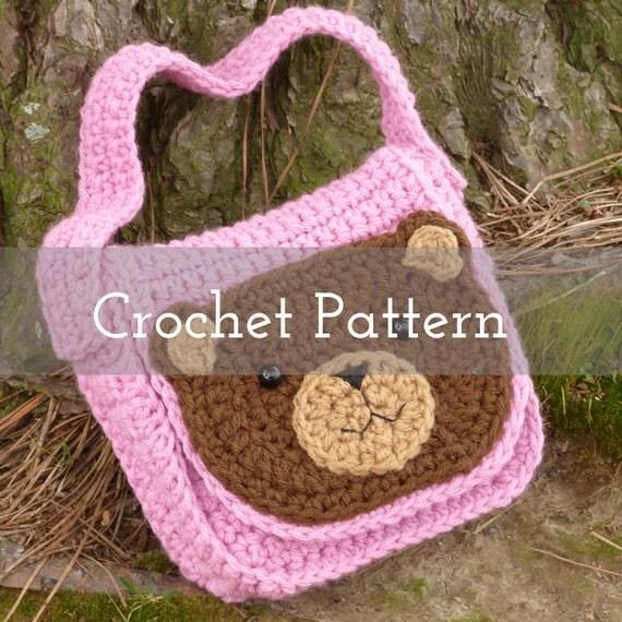 Crochet Pattern Teddy Bear Toddler Tote Gifts For Children