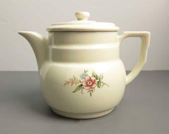 Vintage Drip-O-Lator Floral Coffee Pot / Enterprise Aluminum Co Kitchen Ware Pastel Flowers Coffee Tea Server