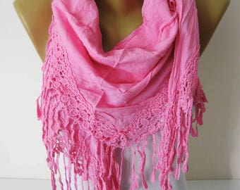 Pink scarf-Fashion Scarves-Trend Scarf ,gift Ideas For Her Women's Scarves- gift- for her -Fashion accessories-Shawls