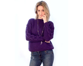 """Knitted pullover """"Viola"""""""