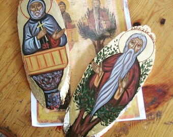 Byzantine St Symeon the Stylite and Saint David from Thessalonica the Tree Dweller the Dendrite Sainthood versions, ascetism and orthodoxy