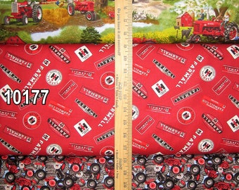 Farmall Tractor Cotton Fabric by Print Concepts! 7 Options  [Choose Your Cut Size]