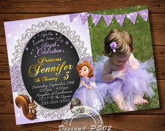 PRINCESS SOFIA INVITATION, Princess Sophia Invitations, Sophia, Sophia Invitation, Sophia Invitations, Sophia Birthday, Princess Sophia