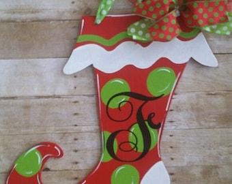 Monogrammed christmas stockings | Etsy