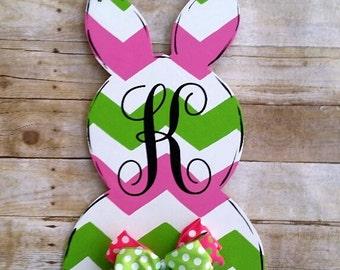 Easter Bunny Door Hanger Decoration Monogrammed Home Decor