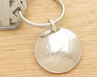 For 16th: 2001 Half Dollar Keychain Coin Accessory 16th Birthday Gift or 16th Anniversary Gift Coin Accessory