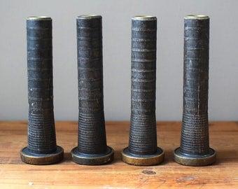 Vintage Wooden Textile Spools One Pair
