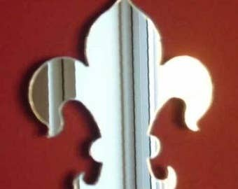 Fleur de Lys Mirror - 5 Sizes Available.   Also available in packs of 10 Small Crafting and Decorating Mirrors