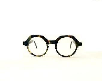 Vintage Eye Glasses Frames Harry Lary's mod. Jerry, John Lennon Round TortoiseMade in France NOS