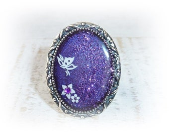 Ring, purple, nail art