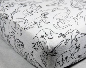Dinosaur Crib Sheet - Dinosaur Flannel Crib Sheet