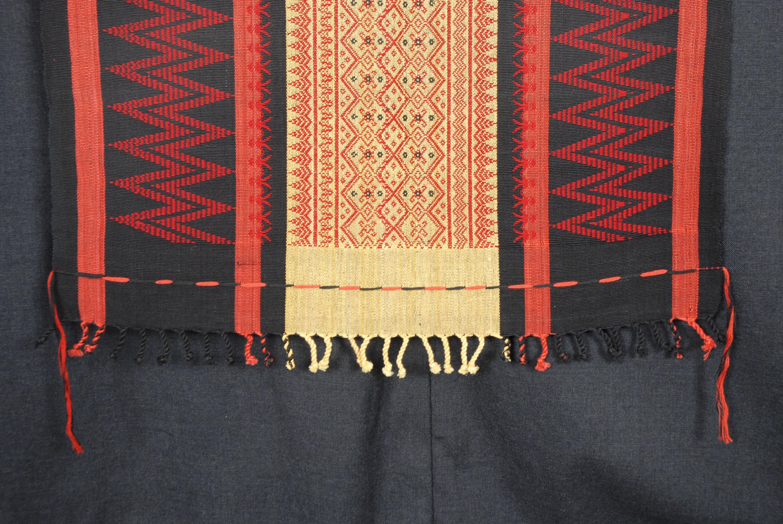 naga ethnic tapestry red yellow black tribal blanket boho home