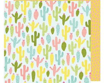 12x12 AC Dear Lizzy Paper - Cactus Cooler