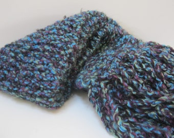 Hand Knit Scarf Purple Winter Accessories Chunky Scarf Winter Scarf Woman Teen Gift Idea  For Her