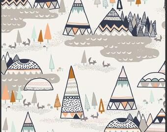 Woodland Oak, Indian Summer, Sarah Watson, Art Gallery Fabrics, Woven fabric, fabric by the yard, animal fabric, boy, nature, woodland