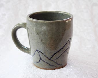 Handmade Ceramic Mug - Mountains