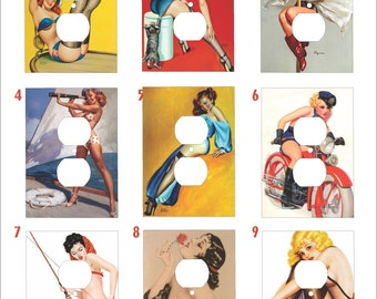 Metal PinUp Outlet Cover Series One - PinUp - 10DR Metal Plug Cover