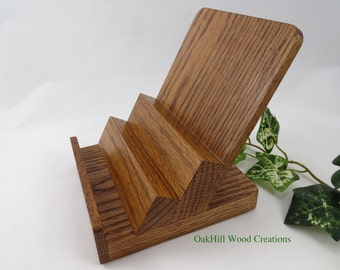 """Display Stand Oak, 5.0"""" Wide, Craft Booth, Counter-top Display"""