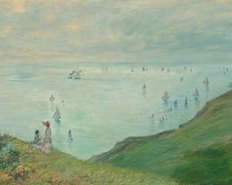 "Claude Monet : ""Cliffs at Pourville"" (1882) - Giclee Fine Art Print"