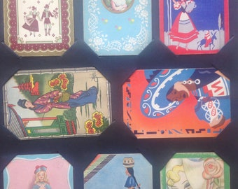 Lot of 8 vintage ladies - playing card fronts