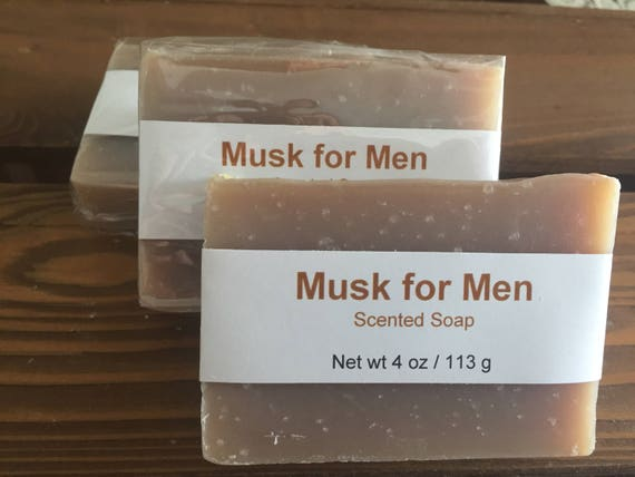 Musk for Men Scented Cold Process Soap with Shea Butter