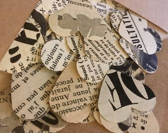 Vintage French paper confetti
