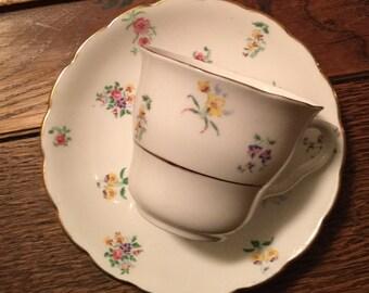 Vintage bone china Colclough tea cup and saucer