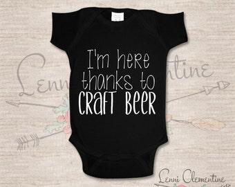 Craft Beer Infant Bodysuit - Craft Beer Baby Clothes - Hipster Baby Clothes - Funny Baby Clothes - Beer Baby Bodysuit - Craft Beer Baby Gift