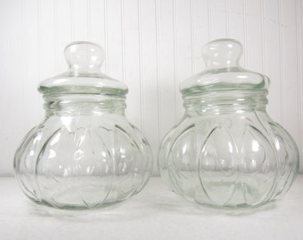 clear glass canisters for kitchen items similar to vintage glass canisters coffee and tea 23312