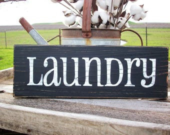 Rustic LAUNDRY Sign / Farmhouse Laundry Room / Wooden LAUNDRY Sign / Rustic Wall Decor