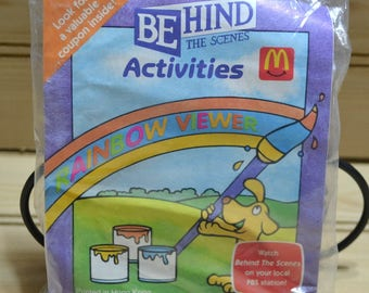 Vintage 1990's McDonalds Behind The Scenes Activities Rainbow Viewer 1992 Happy Meal Kids Collectible Toy NIP Fast Food