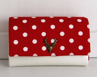 Wallet, purse, Little Ruby, dots Red