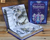 Hollow Book Safe - Alice's Adventures in Wonderland - Purple Leather Bound