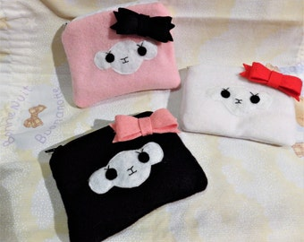 Cute alpaca plush purse *three models*