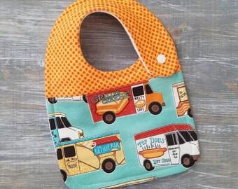 NEW item: Infant Drool Bib- Food Trucks//Taco Truck// Grilled Cheese