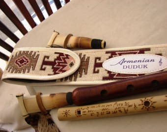 Handmade Pro Armenian Duduk and Flute, Apricot Wood, Ornament case plus Gift, Musical Instrument Doudouk Gift for him