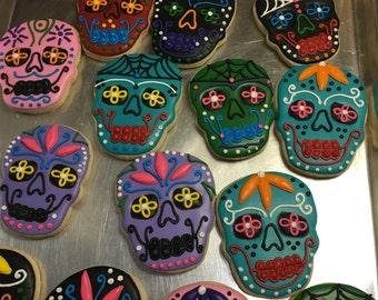 Halloween Skulls Dia de los muertos cookies