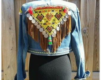 XS/S Embellished Jacket *EAST meets WEST* Boho