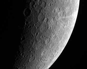 Side of the Moon, Hubble Telescope Picture, Space Photo